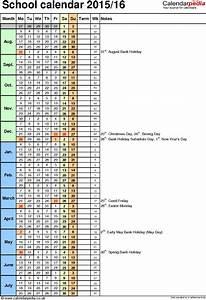school calendars 2015 2016 as free printable word templates With 2015 16 academic calendar template