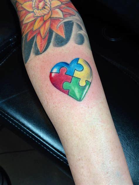 autism puzzle tattoo