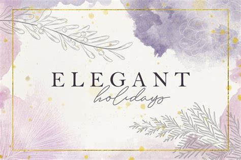 elegant holidays floral wreath watercolor create