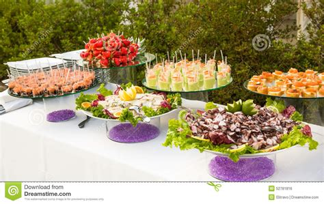 Elegant Appetizers Stock Photo