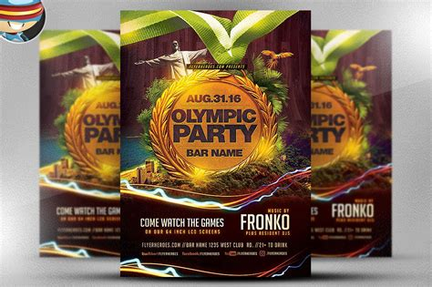 olympic party flyer template flyer templates creative