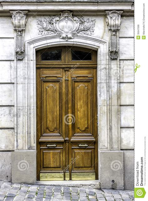wood arch entry door royalty  stock  image