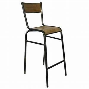 Chaise De Bar Metal : chaise haute de bar type ecolier en bois multipli structure en metal couleur naturel cbr 428 ~ Teatrodelosmanantiales.com Idées de Décoration