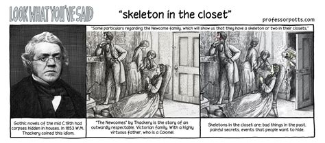 Skeleton In The Closet Idiom by Professor Potts Aidan Potts 187 Skeleton In The Closet