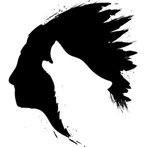 wolf stencil ideas  pinterest wolf silhouette