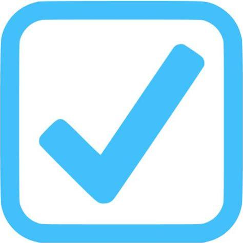 caribbean blue checked checkbox icon free caribbean blue