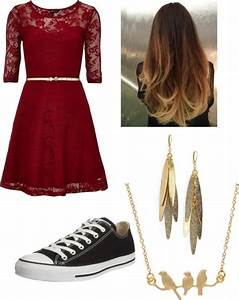 """classic dress with converse"" by mackilynnerocks liked on ..."
