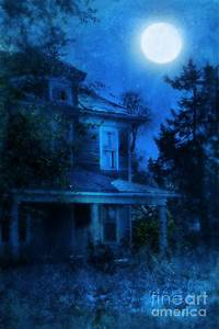 Haunted House Full Moon Photograph by Jill Battaglia