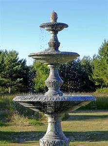 Grand, Triple, Tier, 4m, Emerald, Marble, Stone, Water, Fountain, Feature