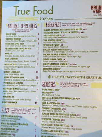 true food kitchen menu true food kitchen atlanta menu prices restaurant
