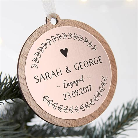 engagement christmas bauble keepsakes  normadorothy