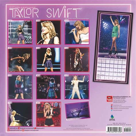 taylor swift calendarios