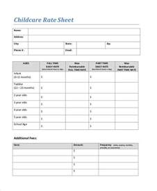 Day Sheet Template 20 Rate Sheet Templates Free Sle Exle Format