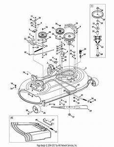 Troy Bilt 13an77ks011 Pony  2010  Parts Diagram For Mower Deck 42