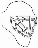 Goalie Hockey Drawing Coloring Mask Getdrawings Blackhawks Chicago sketch template