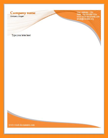 downloadable letterhead template lascazuelasphillycom