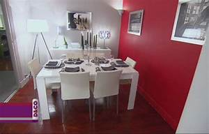 nouvelle idee deco salle a manger rouge With salle a manger rouge