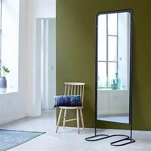 Miroir Sur Pied : miroir noir sur pieds style urbain pas cher sur tikamoon ~ Teatrodelosmanantiales.com Idées de Décoration
