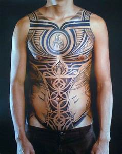 Polynesian-chest-tattoo | Tattoo designs