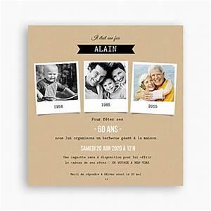 Faire Part Anniversaire 60 Ans : modele invitation 60 ans retraite document online ~ Edinachiropracticcenter.com Idées de Décoration