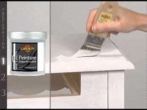 Peinture Sur Meuble : effet chaul peinture meubles objets de lib ron youtube ~ Mglfilm.com Idées de Décoration