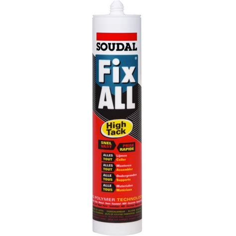 soudal fix all soudal fix all high tack soudal 100270 klium