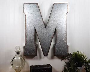 Large metal letter 20 inch metal letter wall decor for Large letter k wall decor