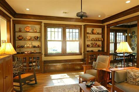 Craftsman Style Built In Bookcases by Built In Shelves With Trim Wood Trim