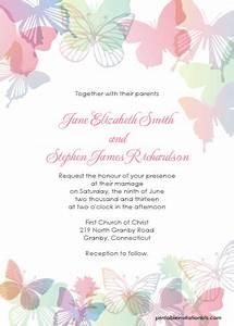 spring butterflies wedding invitation set wedding With free printable spring wedding invitations
