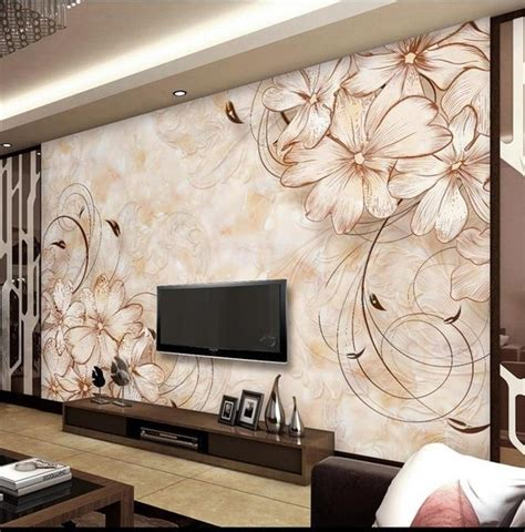 wallpaper custom photo mural  woven flower boutique