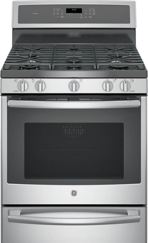 pbsejss ge profile  dual fuel range convection stainless steel