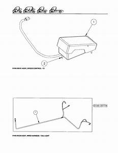 Speed Control  U0026 Wiring Harness Diagram  U0026 Parts List For