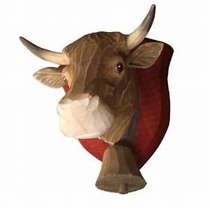 Tete De Vache Deco : d coration murale bois peint t te de vache tarine cusson d coration murale bois t te de ~ Melissatoandfro.com Idées de Décoration