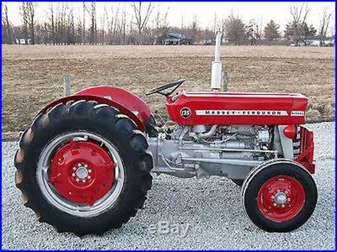 massey ferguson 135 tractor diesel restored mowers tractors