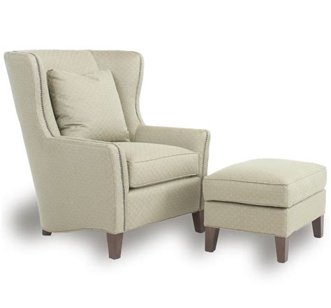 wing chair with ottoman wingback chair and ottoman by smith brothers wolf and
