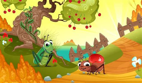 the ant and the grasshopper children moral stories