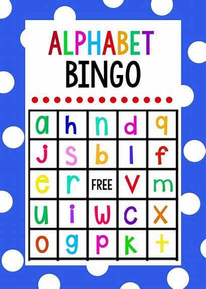 Bingo Alphabet Letters Lowercase Printable Games Cards