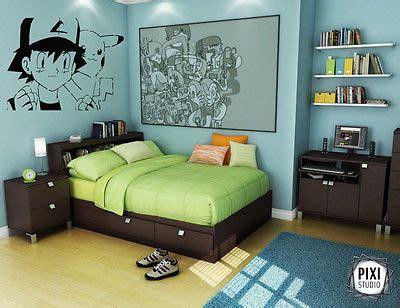 wall decal sticker bedroom anime boy cartoon pokemon pikachu nursery art bo wall decal