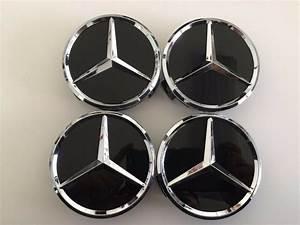 Mercedes Benz Cap : 4 pcs 75mm 3 inch black wheel badge center caps for ~ Kayakingforconservation.com Haus und Dekorationen