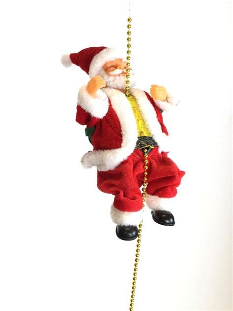 musical climbing santa clause figure decoration rope flying toy christmas tree view more