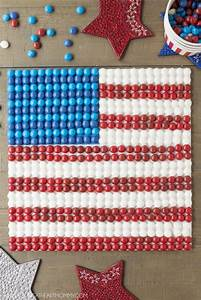 Patriotic Flag Decor Made Out Of Skittles Young At Heart