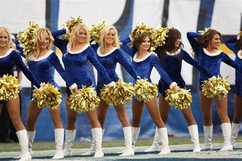 The San Diego Charger Girls Cheerleaders Perform. Photo