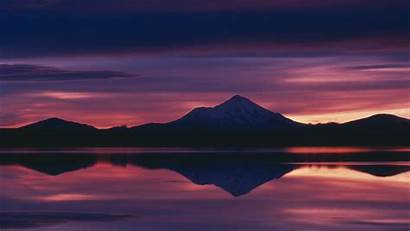Sunset Calm Nature Mountain Landscape Reflection Lake