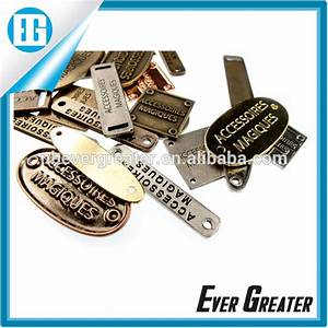 custom metal clothing label makerprinted brand label for With apparel label maker
