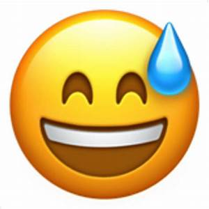 Smiling Face with Open Mouth and Cold Sweat Emoji (U+1F605)