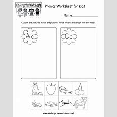 Phonics Worksheet For Kids  Free Kindergarten English Worksheet For Kids
