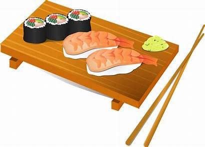 Sushi Fish Chopsticks Japanese Japan Rice Vector