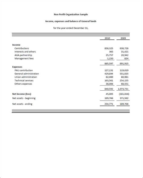 monthly financial reports  nonprofits   profit