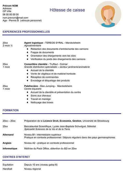 Exemple De Cv étudiant by Modele Cv Pour Etudiant Ecrire Un Cv En Francais Exemple