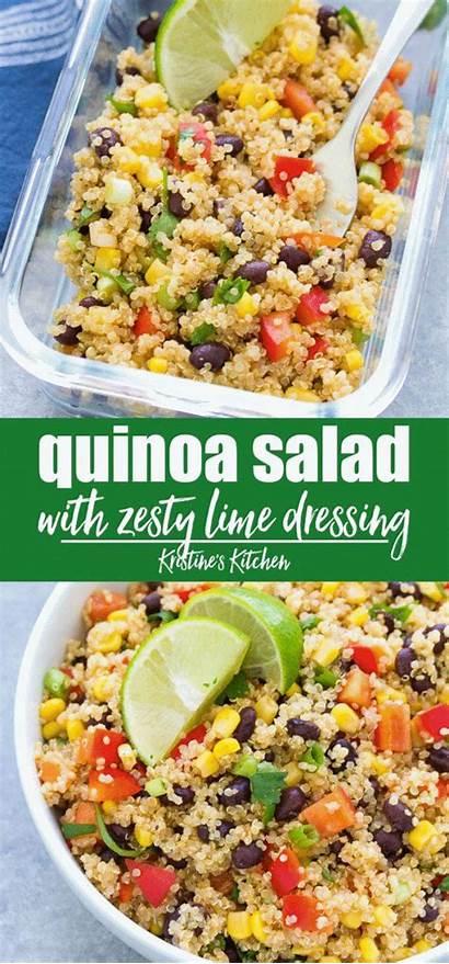 Salad Quinoa Southwest Recipes Cold Healthy Prep